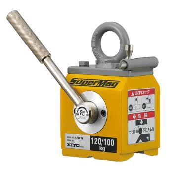 KITO磁铁吊 扁钢与圆钢起吊,最大工作载荷(kg):扁钢120,圆钢100(¢160),KRM12