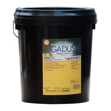 壳牌 润滑脂,佳度 Gadus S3 V220 C 2,中国产,18kg/桶