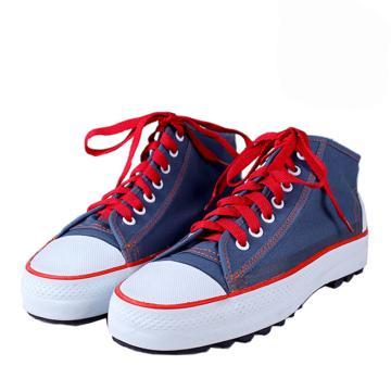 双安 时尚5KV绝缘鞋蓝色,35