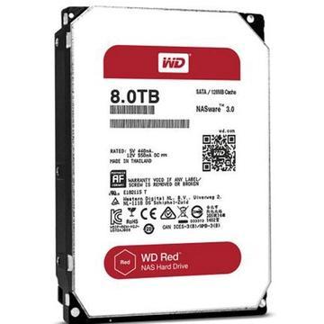 西部数据 红盘,台式机硬盘WD80EFZX-8TB 单位:个