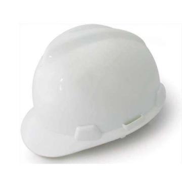 MSA 10172879 V-Gard ABS标准安全帽,白(超爱戴),正面印国电logo(国电定制款)同系列30顶起订