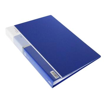 得力 资料册, 5005A4 60页 蓝色 单个