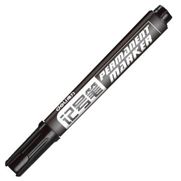 得力记号笔,6881 黑 10支/盒