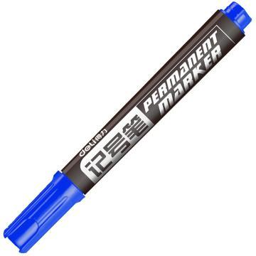 得力记号笔,6881 蓝 10支/盒