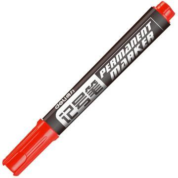 得力记号笔,6881 红 10支/盒