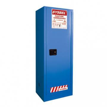 SYSBEL 弱腐蚀性液体安全存储柜,FM认证,22G(83L),蓝色/手动,不含接地线 WA810220B