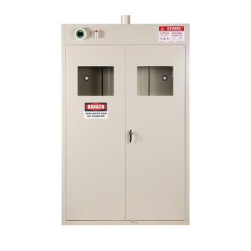SYSBEL 三瓶型气瓶存储柜(外界排风) 双门/手动,含声光报警含电源适配器220V转24V WA720103