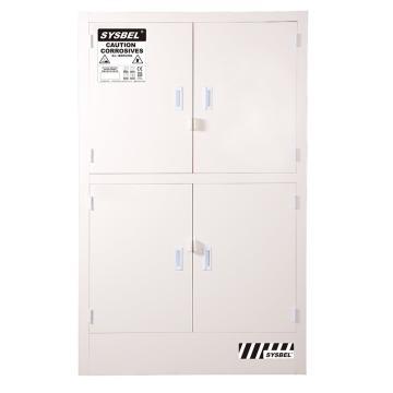 SYSBEL 强腐蚀性化学品安全存储柜,CE认证,48G(182L),白色/手动,不含接地线 ACP810048