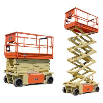 JLG RS系列电动剪式高空作业平台,平台最大高度(m):9.75,额定载重(kg):320,型号 10RS