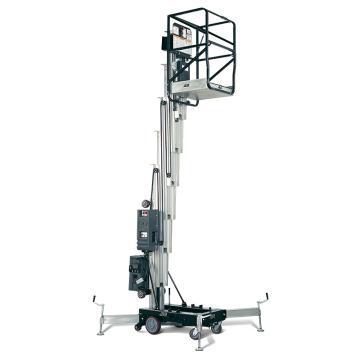 JLG AM系列手推直立桅柱式高空作业平台,平台最大高度(m):7.57,额定载重(kg):159,型号 25AM