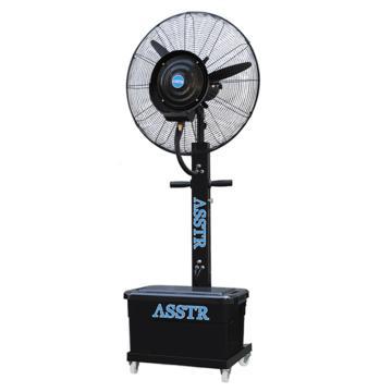 ASSTR 立式移动型降温喷雾工业风扇 AST-06,黑色方形水箱