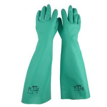 安思尔Ansell 丁腈防化手套,37-185-9,直戴式 厚度0.56mm 长度46cm