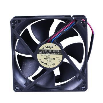 ADDA 散热风扇 AD0912HB-A76GL,DC12V,92×92×25mm