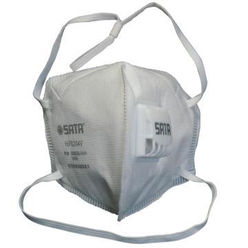 头戴式KN95折叠口罩带阀