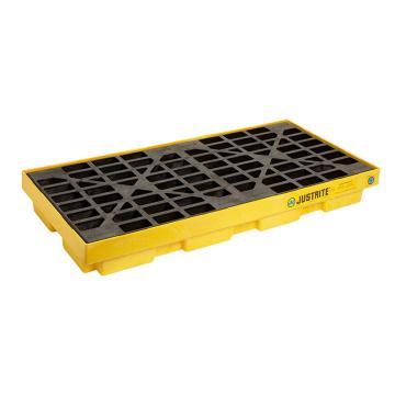 杰斯瑞特JUSTRITE 两桶盛漏平台,黄色,1245×635×140mm,28654