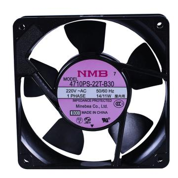 AC轴流风扇,美蓓亚,4710PS-22T-B30,220V,50/60Hz,14/11W,0.1/0.08A,119×119×25mm