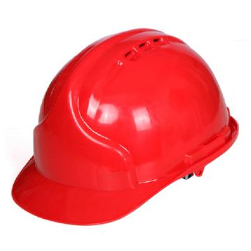 9999PE安全帽,有孔,红