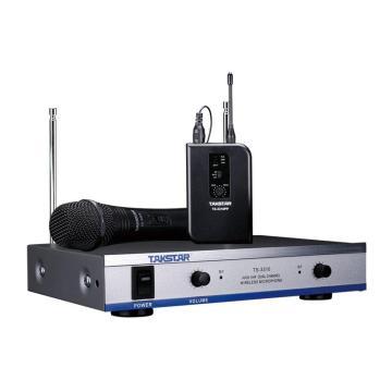 得胜(Takstar) 无线麦克风,卡拉OK家用领夹手持一拖二话筒 TS-3310HP 单位:台