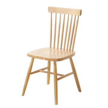 北欧童话 日式全实木简约白橡木椅子