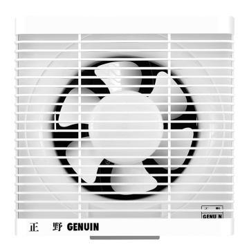 正野 双向连动豪华百叶窗换气扇 ASB20B,28kw,开孔尺寸250×250,外观尺寸305×305