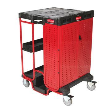 乐柏美 带橱柜的工作扶梯推车,外形尺寸(mm):800X686X1067,额定承重(KG):226