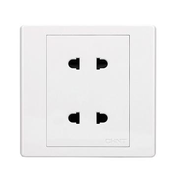 正泰CHINT NEW7S系列两位两极插座10A,NEW7-S10400 白色