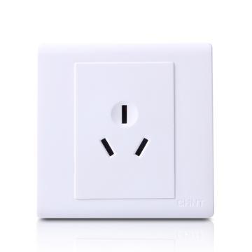 正泰CHINT NEW7S系列一位三极插座10A,NEW7-S10800 白色