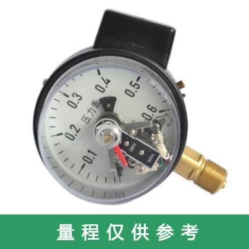 万达/WANDA 电接点压力表YJTXC-100,碳钢+铜,径向不带边,Φ100,0~0.6MPa,M20*1.5,1.6级,380V