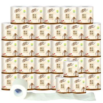 清风原木卷纸 家用纸巾卫生纸卷筒纸厕纸批发 手纸整箱家庭装32卷