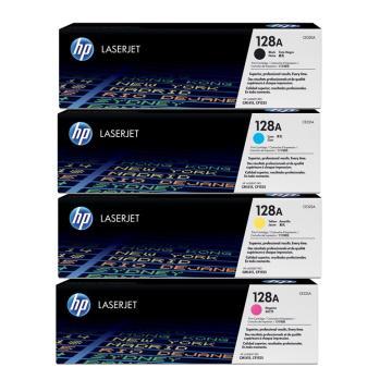 惠普(HP) CE320A-CE323A 黑彩硒鼓 128A套装 (含1支黑色+3支彩色)