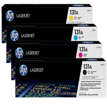 惠普(HP)CF210A-CF213A 黑彩硒鼓 131A套装(含1支黑色+3支彩色 适用LaserJet M251n/M276fn/M276fnw)