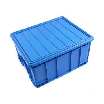 560系列箱,蓝色,含盖子,内尺寸:560*460*400,外尺寸:600*500*410