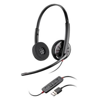 缤特力C320-M微软版 双耳 USB声卡降噪耳机麦克风DSP数字信号处理