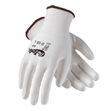 PIP涤纶PU手套,12副/袋,白色,尺码:M