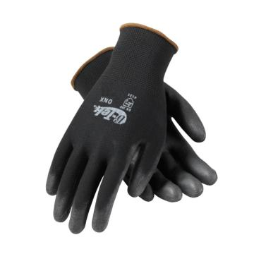 PIP涤纶PU手套,12副/袋,黑色,尺码:M