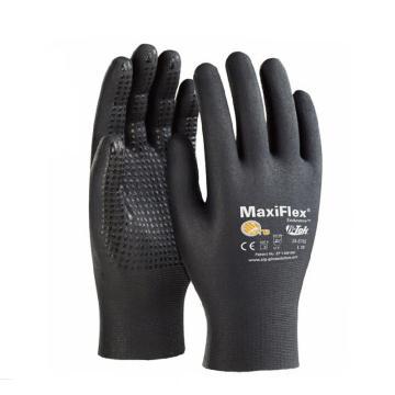 PIP尼龙丁腈微发泡点珠全涂层手套,12副/袋,尺码:XL