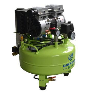 静音无油空压机 带干燥器,排气量:118L/min,硅莱