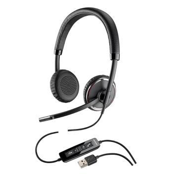 Plantronics/缤特C520-M头戴式USB双耳降噪耳麦