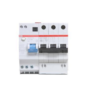 ABB 微型剩余电流保护断路器 GSH203(GSH200) 3P 32A C型 100mA A GSH203 A S-C32/0.1