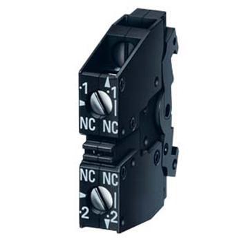 西门子 按钮指示灯辅助粗点(1NO+1NC),3SB3400-0A