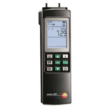 德图/Testo 差压测量仪,0~100hPa,testo 521-2,订货号:0560 5211