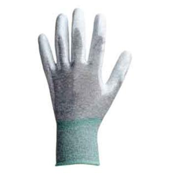 碳纤维掌涂PU防静电手套,尺码:M