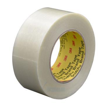 3M单面透明PP纤维胶带, 透明色 宽度9mm