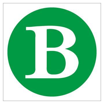 鸿依帆 电力安全标识,线路(母线)相位标志-B,不锈钢雕刻烤漆,340*300*0.7mm