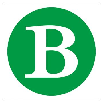 鸿依帆 电力安全标识,线路(母线)相位标志-B,不锈钢雕刻烤漆,200*160*0.7mm