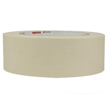 3M单面平滑美纹纸常温遮蔽胶带, 白色 宽度12mm