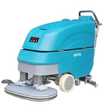 洁德美手推电瓶式洗地机(免维护、双刷),860B