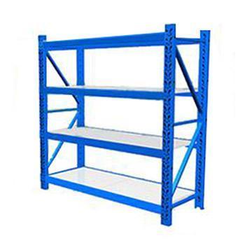 云洁  中型货架主架,承重:300kg,尺寸(mm):1200*400*2000(四层搁板),蓝色 (安装费另询)