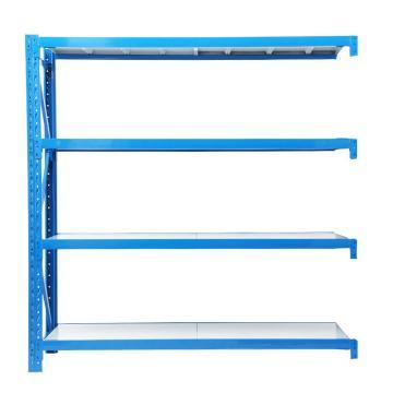 云洁 中型货架副架,承重:300kg,尺寸(mm):1200*400*2000(四层搁板),蓝色 (安装费另询)