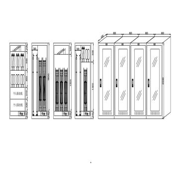 电力电气安全柜套装4 智能除湿,2000*800*450 板厚1mm(4个柜子,见图纸)